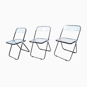 Folding Chairs by Giancarlo Piretti for Castelli/Anonima Castelli, 1967, Set of 3