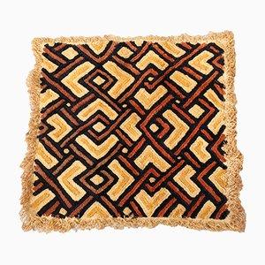 Vintage Central African Raffia Rug