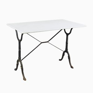 French Marble Garden Table, 1930s