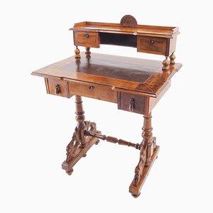 Antiker viktorianischer Davenport Schreibtisch aus Nussholz & Mahagoni