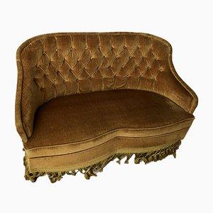Gold Velvet Sofa, 1970s