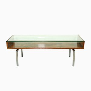 Danish Rosewood and Glass Coffee Table, 1960s