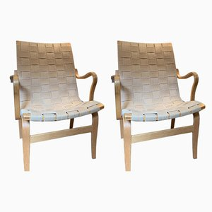 Armchairs by Eva and Bruno Mathsson, 1970s, Set of 2