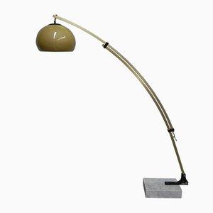 Aluminum, Marble, and Plastic Floor Lamp, 1970s