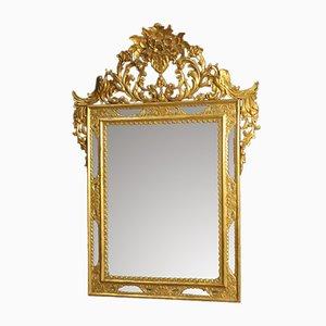 Espejo español de madera dorada, años 50