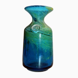 Model 2 Blue and Green Glass Carafe by Michael Harris for Mdina, 1970s