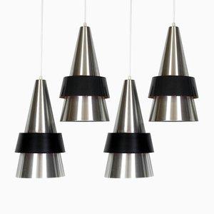 Danish Ceiling Lamps by Johannes Hammerborg for Fog & Mørup, 1963, Set of 4