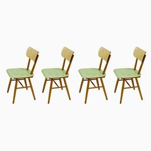 Sedie da pranzo di TON, anni '60, set di 4