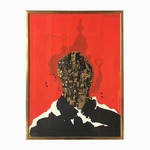 The Anarchist Silkscreen Print by Arthur Secunda, 1968
