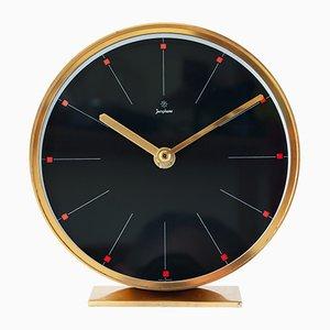 Horloge de Bureau Mid-Century en Laiton de Junghans