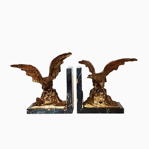 Antique Bookends by A Marionnet for Marionnet, Set of 2
