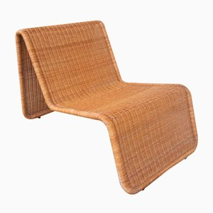 Wicker Lounge Chair by Tito Agnoli for Pierantonio Bonacina, 1960s
