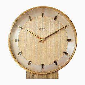 Reloj de escritorio de latón de Kienzle, años 60