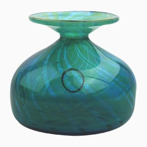 Vintage Glass Vase by Michael Harris for Mdina