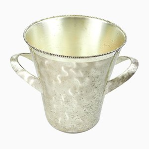 Silver-Plated Brass Ice Bucket by Wilhelm Wagenfeld for WMF, 1950s