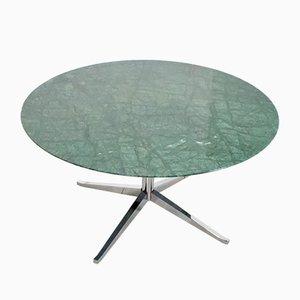 Table de Salle à Manger Mid-Century en Marbre Vert par Florence Knoll Bassett pour Knoll Inc./Knoll International