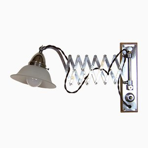 Chrome-Plated Brass Scissor Wall Light, 1920s
