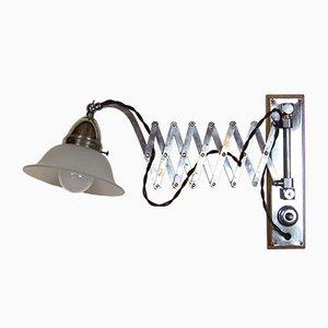 Lámpara de acordeón de latón cromado, años 20