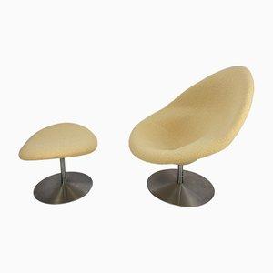 Globe Sessel & Fußhocker von Pierre Paulin für Artifort, 1960er, 2er Set