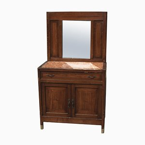 Antique Walnut and Marble Dressing Table