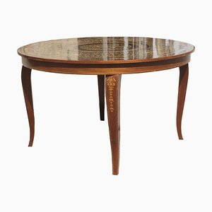 Round Italian Coffee Table, 1960s