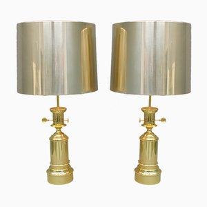 Schwere Tischlampen aus Messing & Metall von Vereinigte Werkstätten Collection, 1963, 2er Set