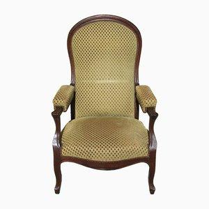 Sillón estilo Louis Philippe vintage de nogal, años 30
