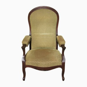 Vintage Louis Philippe Style Walnut Lounge Chair, 1930s