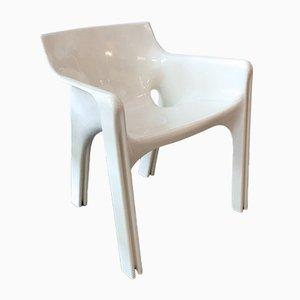 Weißer Modell Gaudi Esszimmerstuhl von Vico Magistretti für Artemide, 1970er