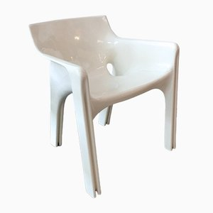 White Model Gaudi Dining Chair by Vico Magistretti for Artemide, 1970s
