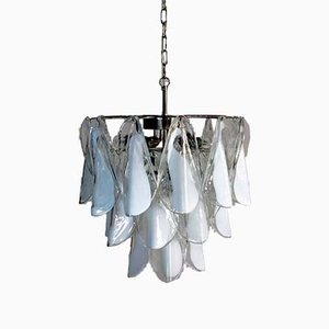 Vintage Italian Murano Glass Chandelier from Mazzega, 1984