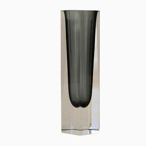 Sechseckige Mid-Century Vase aus Muranoglas