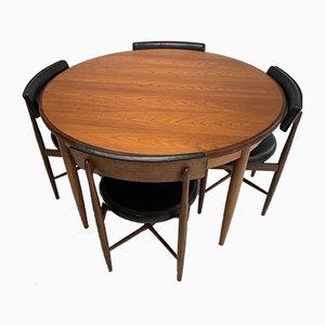 Tavolo da pranzo e sedie di Victor Wilkins per G-Plan, anni '60, set di 5