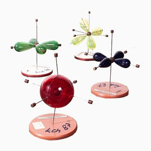 Biology Cell Structure Models, 1950s, Set of 4