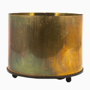 Large Brass Planter, 1950s