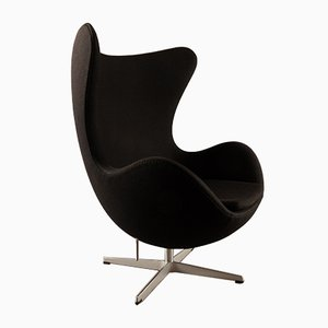 3316 Black Egg Lounge Chair by Arne Jacobsen for Fritz Hansen, 2007