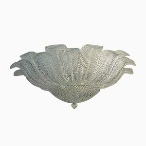 Murano Art Glass Ceiling Lamp from Barovier and Toso, 1983