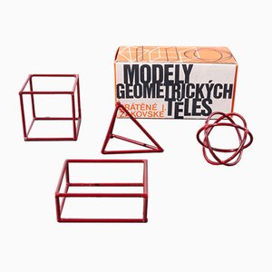 Small Geometric Models, 1950s, Set of 4