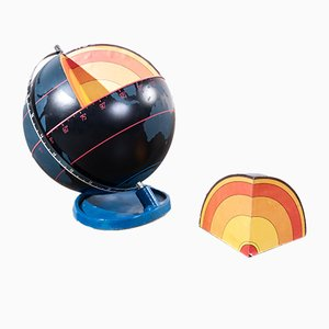 Rotating Earth Core Globe, 1950s
