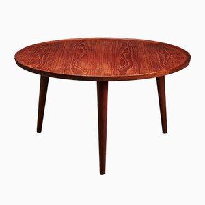 Table Basse Ronde en Teck par Anton Kildeberg, 1960s