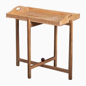 Tavolino pieghevole Mid-Century in quercia, anni '60