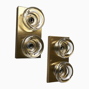 Modernist Brass Sconces from Cosack, 1970s, Set of 2