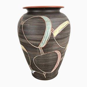 Große Keramikvase mit abstrakter Bemalung von Franz Schwaderlapp für Sawa, 1950er