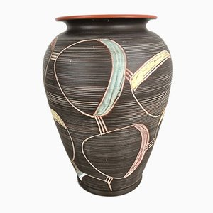 Large Abstract Ceramic Vase by Franz Schwaderlapp for Sawa, 1950s