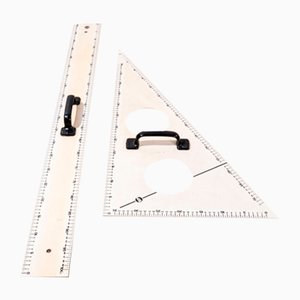Large Blackboard Measurement Tools, 1950s, Set of 2