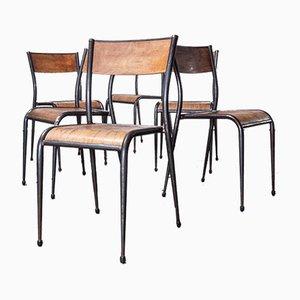 Französische Mullca Esszimmerstühle von Robert Muller & Gaston Cavaillon, 1950er, 6er Set
