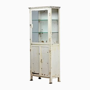 Glass and Iron Medical Cabinet, 1920s