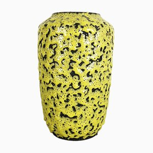 Vintage Yellow Fat Lava Vase from Scheurich