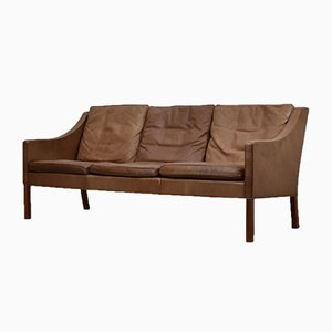 Danish Model 2209 Leather Sofa by Børge Mogensen for Fredericia, 1960s