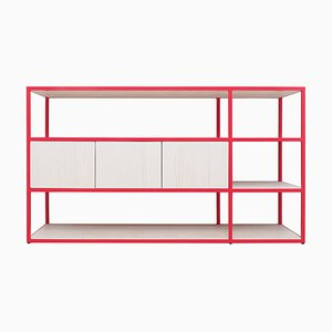 Celeste Mini Strawberry Red Shelving Unit by Johanenlies